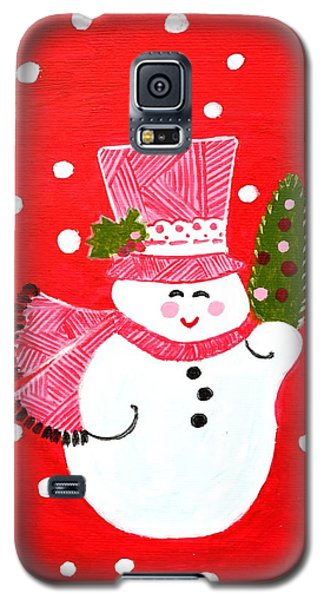 Galaxy S5 Case featuring the painting Merry Christmas by Magdalena Frohnsdorff