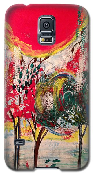 Galaxy S5 Case featuring the painting 5 Panell- Dance Of Love by Sima Amid Wewetzer