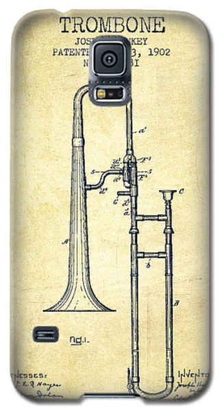 Trombone Patent From 1902 - Vintage Galaxy S5 Case by Aged Pixel