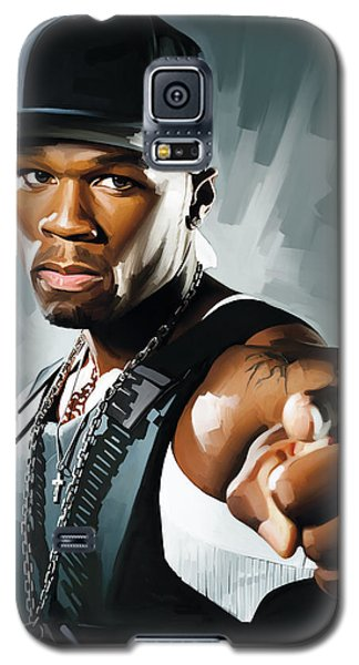 50 Cent Artwork 2 Galaxy S5 Case by Sheraz A