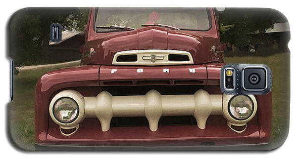 Galaxy S5 Case featuring the photograph '52 Ford Pickup by Wayne Meyer