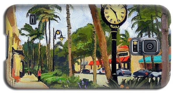 Egret Galaxy S5 Case - 5th Avenue Naples Florida by Christine Hopkins