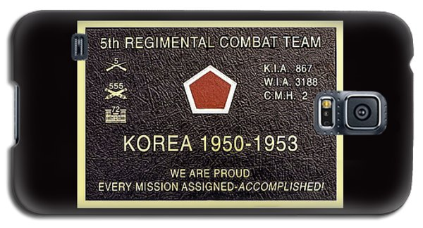 5th Regimental Combat Team Arlington Cemetary Memorial Galaxy S5 Case