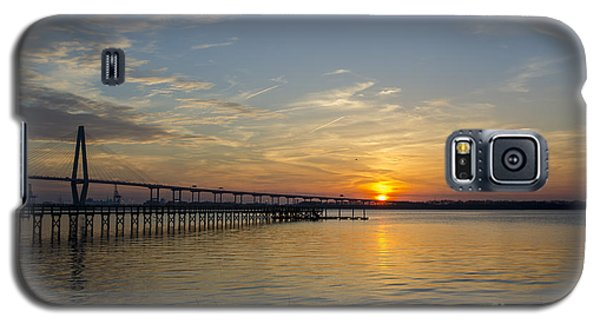 Arthur Ravenel Bridge Tranquil Sunset Galaxy S5 Case by Dale Powell