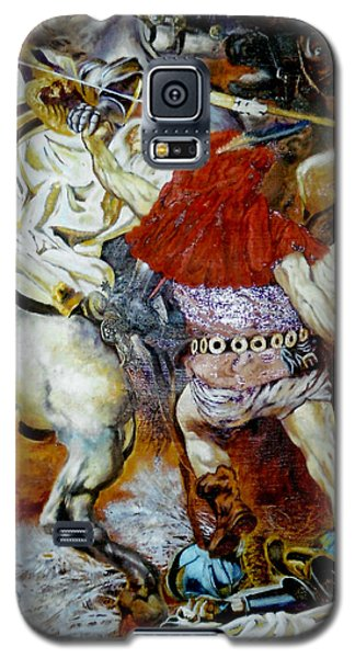 Galaxy S5 Case featuring the painting Battle Of Grunwald by Henryk Gorecki