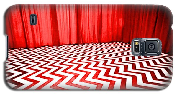 Galaxy S5 Case featuring the painting Black Lodge by Luis Ludzska
