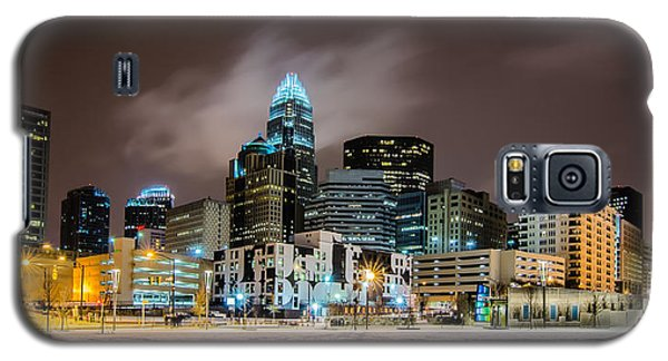 Charlotte Queen City Skyline Near Romare Bearden Park In Winter Snow Galaxy S5 Case