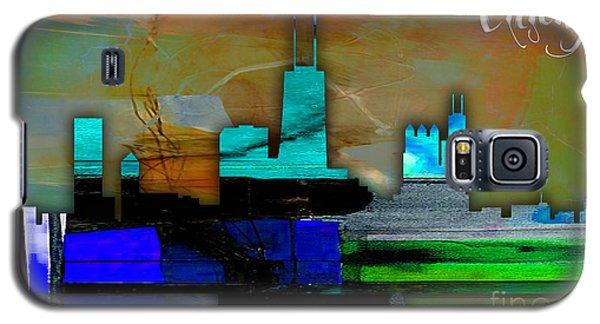 Chicago Skyline Watercolor Galaxy S5 Case