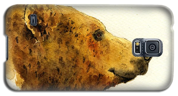 Grizzly Bear Galaxy S5 Case by Juan  Bosco