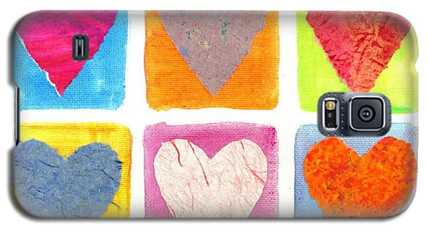 6 Hearts Collage Galaxy S5 Case