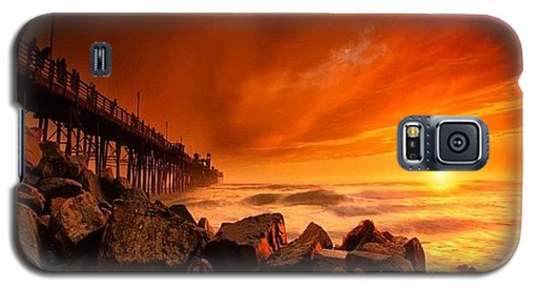 Galaxy S5 Case - Long Exposure Sunset At A North San by Larry Marshall