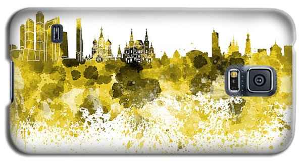 Moscow Skyline White Background Galaxy S5 Case by Pablo Romero
