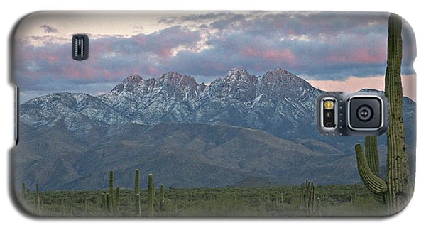 Four Peaks Sunset Snow Galaxy S5 Case