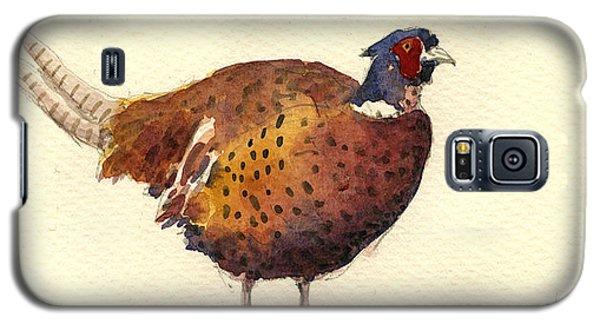Pheasant Galaxy S5 Case - Pheasant by Juan  Bosco