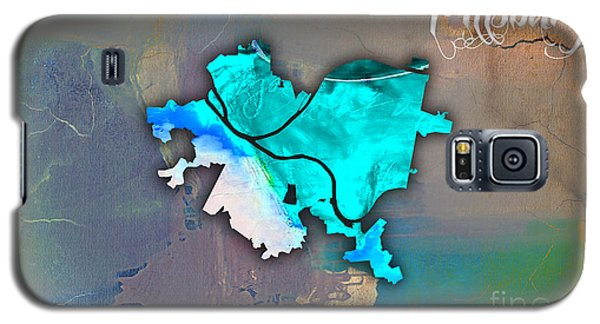 Pittsburgh Map Watercolor Galaxy S5 Case by Marvin Blaine