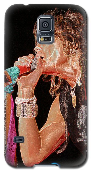 Galaxy S5 Case featuring the photograph Steven Tyler - Aerosmith by Don Olea