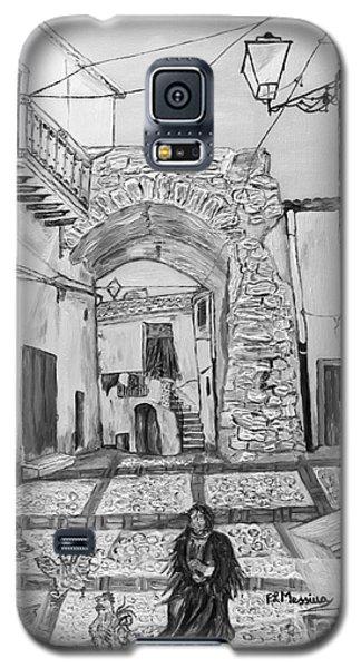 Galaxy S5 Case featuring the painting Sutera Rabato Antico by Loredana Messina