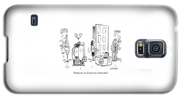 Pardon Me, Sir, It's Your Ten-o'clock Cabal Galaxy S5 Case by David Sipress