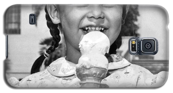 Ice Galaxy S5 Case - Girl With Ice Cream Cone by Underwood Archives