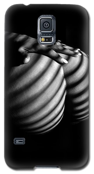 6747 Zebra Woman Nude Stripe Series   Galaxy S5 Case by Chris Maher
