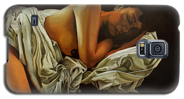 Galaxy S5 Case featuring the painting 7 Am by Thu Nguyen
