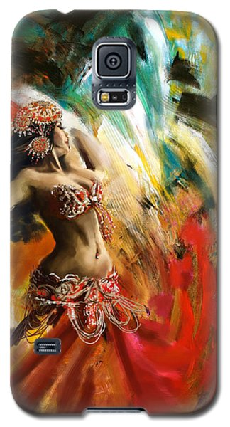 Abstract Belly Dancer 19 Galaxy S5 Case by Corporate Art Task Force