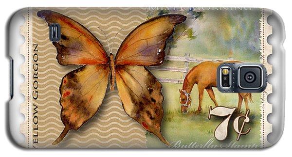Gorgon Galaxy S5 Case - 7 Cent Butterfly Stamp by Amy Kirkpatrick