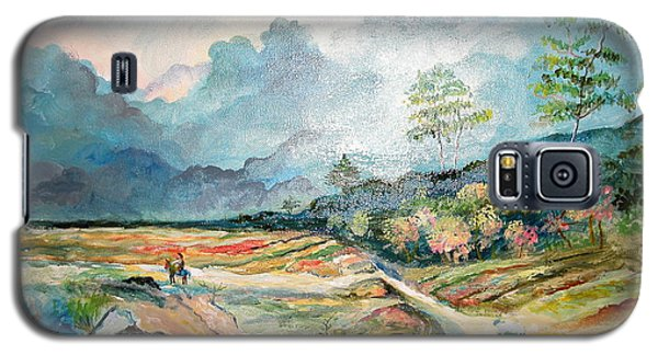Galaxy S5 Case featuring the painting Landscape by Egidio Graziani