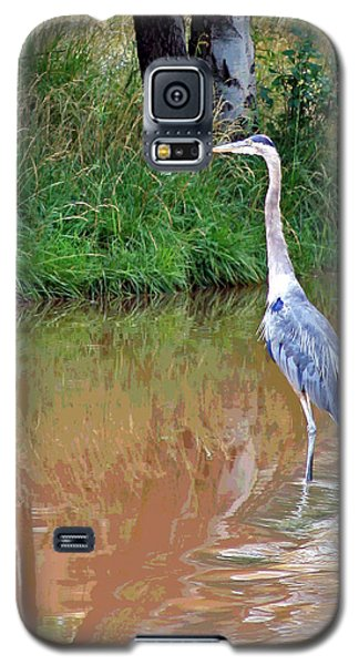 Blue Heron On The East Verde River Galaxy S5 Case
