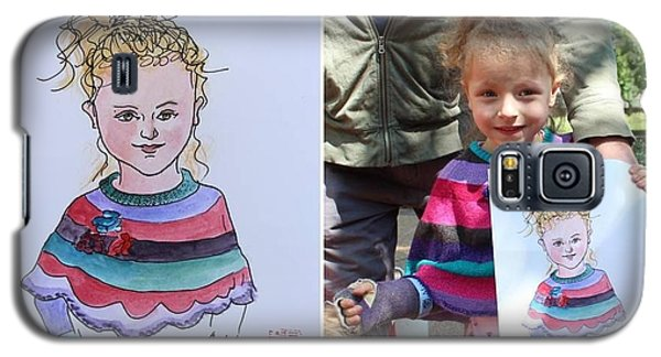 Galaxy S5 Case featuring the painting Portrait Sketch by Ping Yan