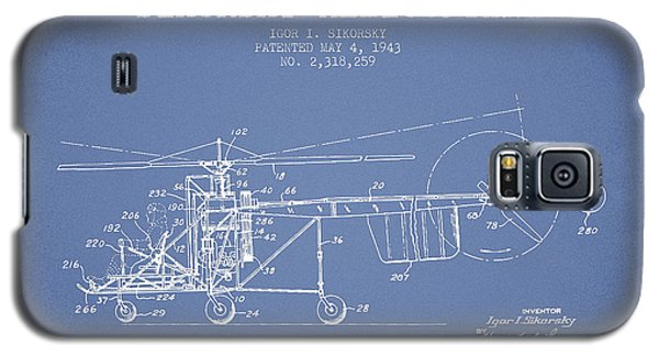 Helicopter Galaxy S5 Case - Sikorsky Helicopter Patent Drawing From 1943 by Aged Pixel