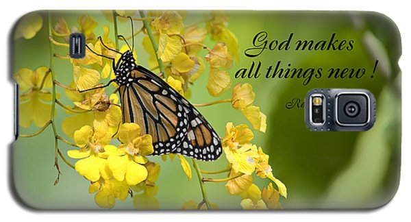 Butterfly Scripture Galaxy S5 Case