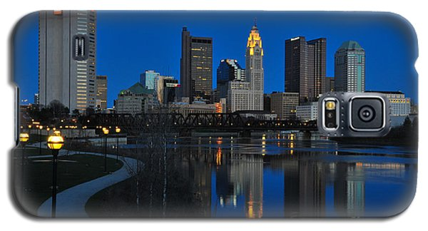 Columbus Ohio Skyline At Night Galaxy S5 Case