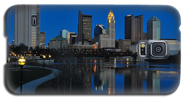 Columbus Ohio Skyline At Night Galaxy S5 Case