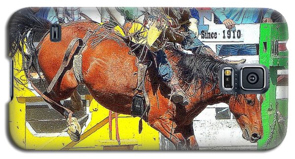 Galaxy S5 Case featuring the photograph 8 Seconds-4 by Barbara Dudley