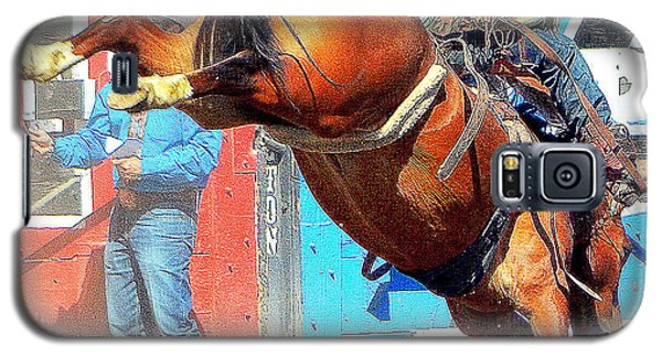 Galaxy S5 Case featuring the photograph 8 Seconds-6 by Barbara Dudley
