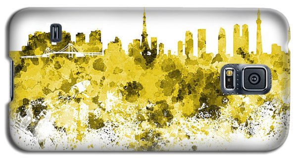 Tokyo Skyline In Watercolor On White Background Galaxy S5 Case by Pablo Romero