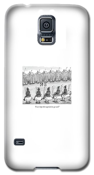 Ostrich Galaxy S5 Case - I Sure Hope The Negotiations Go Well by Jason Patterson