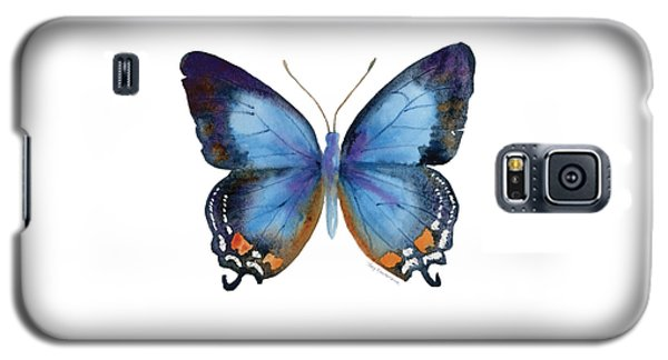 80 Imperial Blue Butterfly Galaxy S5 Case