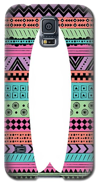 Beach Galaxy S5 Case - 80s Surfboard by Susan Claire