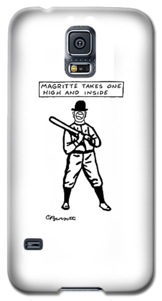 Sport Art Galaxy S5 Case - Magritte Takes One High by Charles Barsotti