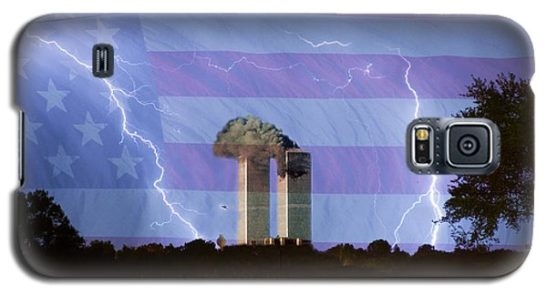 9-11 We Will Never Forget 2011 Poster Galaxy S5 Case