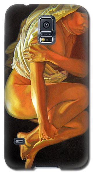 Galaxy S5 Case featuring the painting 9 30 Am by Thu Nguyen