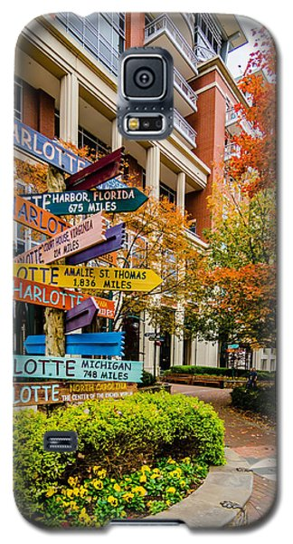 Charlotte City Skyline Autumn Season Galaxy S5 Case