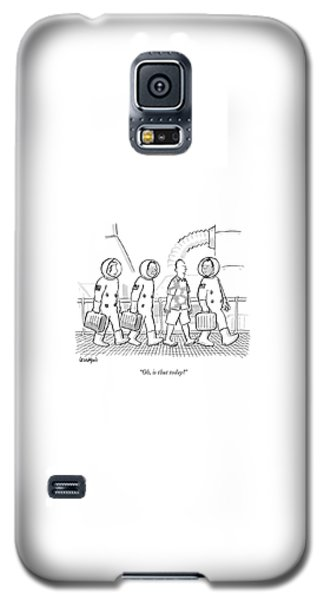 Space Ships Galaxy S5 Case - Oh, Is That Today? by Robert Leighton