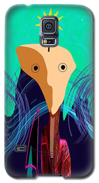 904 -   Stone Face  Galaxy S5 Case by Irmgard Schoendorf Welch
