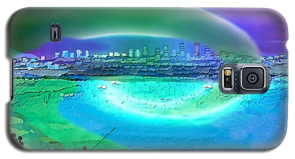 920 - Blue City On The Sea Galaxy S5 Case by Irmgard Schoendorf Welch