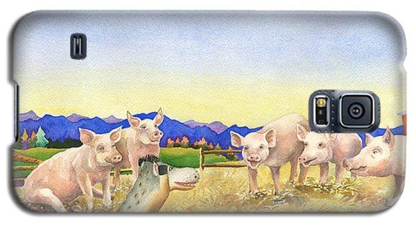A Barnyard Of Pigs Galaxy S5 Case