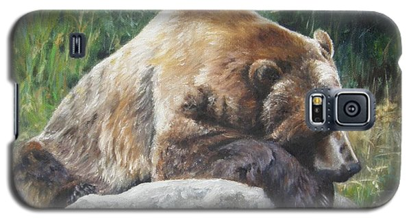 Galaxy S5 Case featuring the painting A Bear Of A Prayer by Lori Brackett