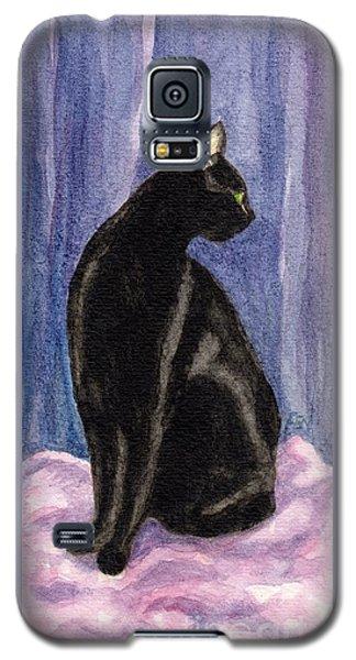 A Black Cat's Sexy Pose Galaxy S5 Case by Jingfen Hwu